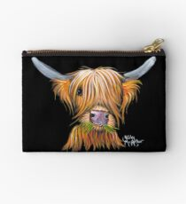 HIGHLAND COW PRiNT ' LITTLE VIKING ' By Shirley MacArthur Studio Pouch