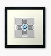 Weighted Cube - Portal Framed Print