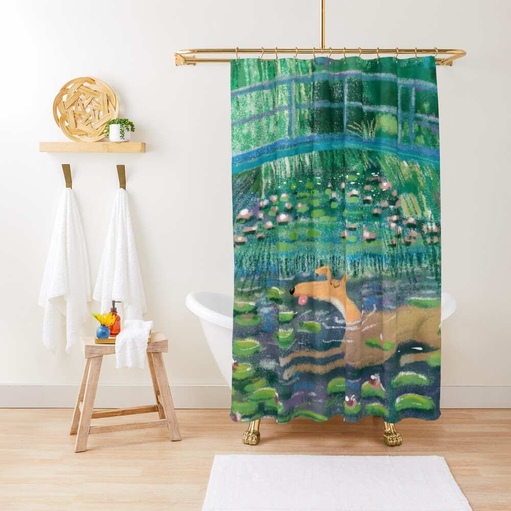 Greympressionism Shower Curtain