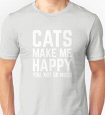 Katzen machen mich glücklich Slim Fit T-Shirt