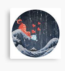 The Great Wave Off Kanagawa - True Love Canvas Print