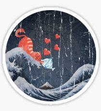 The Great Wave Off Kanagawa - True Love Sticker