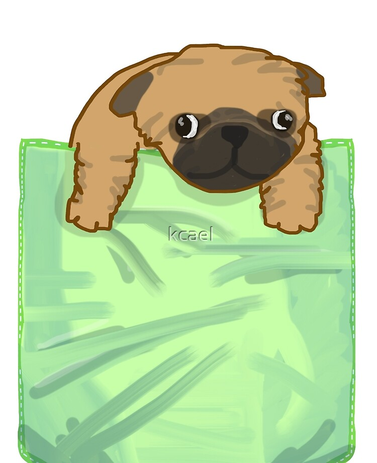 pug In Green Pocket iphone case