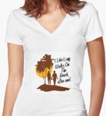 I LIKE LONG Women's Fitted V-Neck T-Shirt