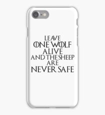 The Sheep are never Safe iPhone Case/Skin