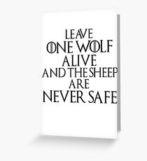 The Sheep are never Safe Greeting Card