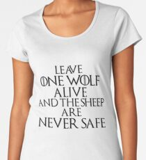 The Sheep are never Safe Women's Premium T-Shirt