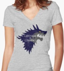 Gotham is Coming Women's Fitted V-Neck T-Shirt