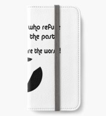 Living in the past is bad iPhone Wallet/Case/Skin