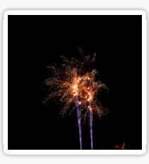Long Exposure of Multicolored Fireworks Against a Black Sky - Bastille Day Sticker