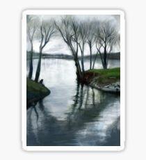 The peace amidst the turbulent currents of life. Sticker