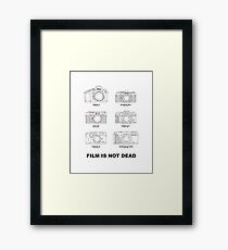 Film Is Not Dead - Vintage Film Photography Framed Print