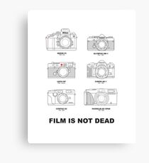 Film Is Not Dead - Vintage Film Photography Canvas Print
