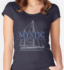 Mystic Seaport Women's Fitted Scoop T-Shirt