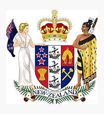 New Zealand Coat of Arms Photographic Print