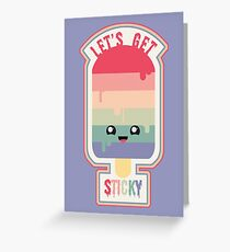 Let's Get Sticky Greeting Card