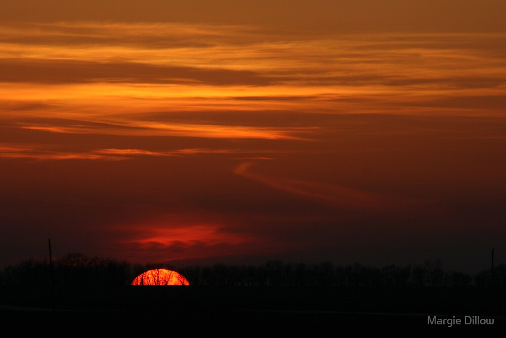 When the Sun Goes Down over the Mid-West by Margie Dillow