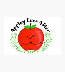 Appley Ever After - Punny Garden Photographic Print