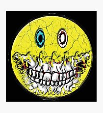 Zombie Smiley Photographic Print