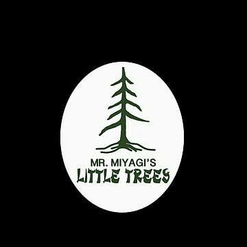 Mr. Miyagi's Little Trees - Dark by MightyFineGoods