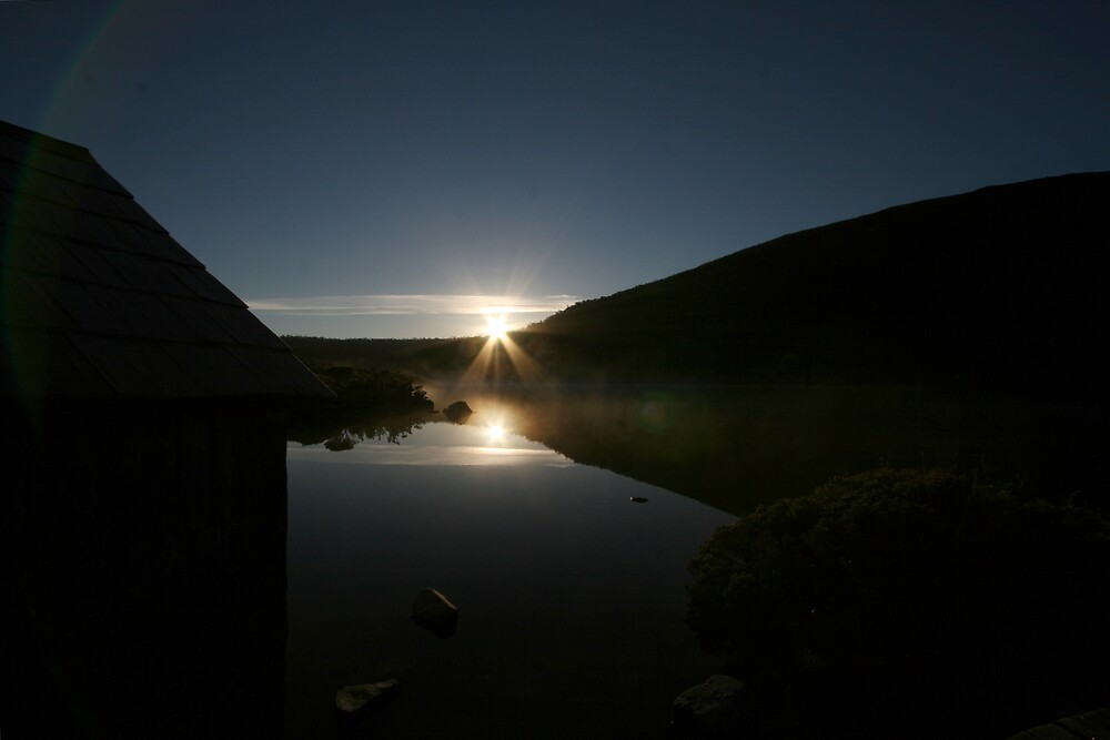 Sunrise at Dove Lake, Tasmania by Leigh Penfold