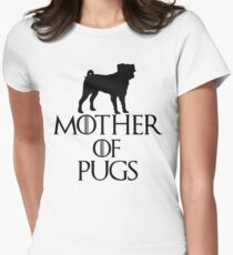 Mother of Pugs Womens Fitted T-Shirt
