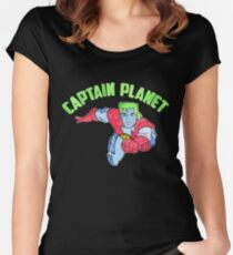 Captain Planet  Women's Fitted Scoop T-Shirt
