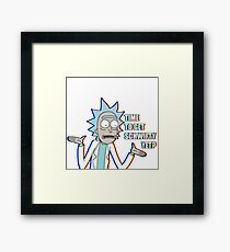 Time to get schwifty yet? | Retro Framed Print