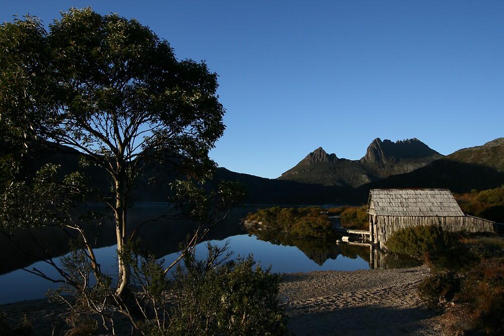 Dove Lake Boathouse, Tasmania by Leigh Penfold