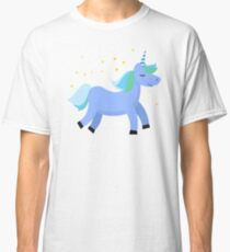 a8958c14762b Blue unicorn Classic T-Shirt.  20.73Blue unicorn Classic T-Shirt. Brompers  Unicorn Tshirt- Male Romper Tee Women s Fitted T-Shirt