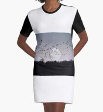 Guided by the Moon Graphic T-Shirt Dress