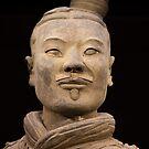China. Xian. Terracotta Army. Kneeling Archer. Detail. by vadim19