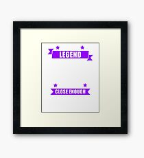 Calculus Legend Purple Framed Print