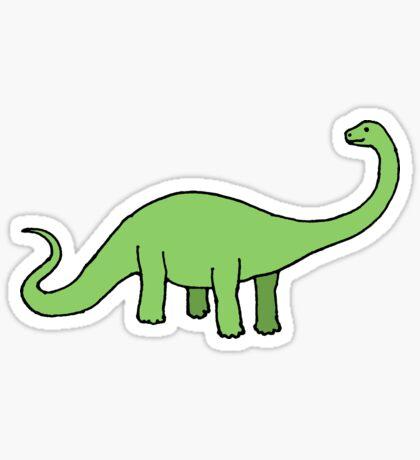 Happy Diplodocus - dinosaur design by Cecca Designs Sticker