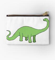Happy Diplodocus - dinosaur design by Cecca Designs Studio Pouch