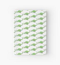 Happy Diplodocus - dinosaur design by Cecca Designs Hardcover Journal