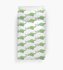 Happy Diplodocus - dinosaur design by Cecca Designs Duvet Cover