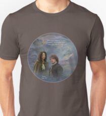 Fraser's Ridge collage and Outlander quote. Unisex T-Shirt