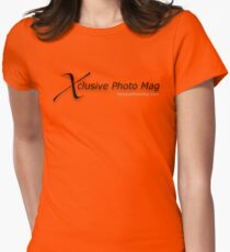 Xclusive Photo Mag - Black Letters Women's Fitted T-Shirt
