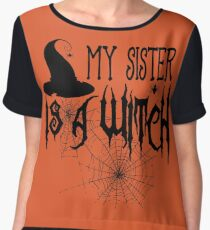 My Sister Is A Witch Women's Chiffon Top