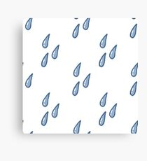 water drops seamless doodle pattern Canvas Print