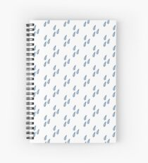water drops seamless doodle pattern Spiral Notebook