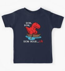 T-Rex Row Your Boat Dinosaur Funny Kids Tee