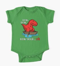 T-Rex Row Your Boat Dinosaur Funny One Piece - Short Sleeve
