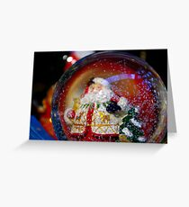 Snow Globe. Greeting Card