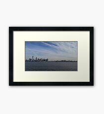 NYC FROM AFAR Framed Print
