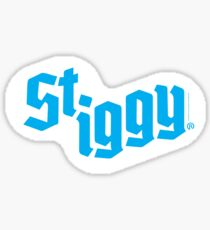 St. Iggy (St. Ignace, Michigan) Cyan Sticker