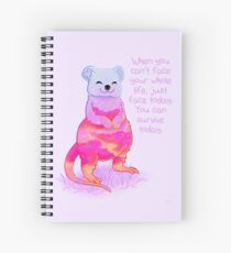 """""""When You Can't Face Your Whole Life"""" Sunrise Quokka Spiral Notebook"""
