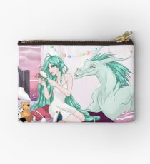 Fantasy Fairy With Her Dragon Studio Pouch