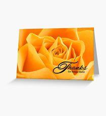 Thank You Yellow Rose Botanical Flower Greeting Card